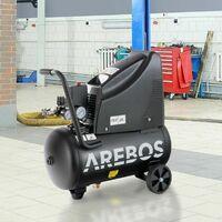 Compresor Aire Comprimido AREBOS 8Bar 1100W Juego Aire Comprimido De 14 Piezas - Negro