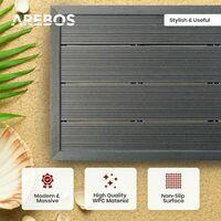AREBOS Ducha Solar 40L Ducha De Jardín Ducha De Piscina Con Elemento De Suelo - Plata / Negro