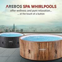 AREBOS Whirlpool Benessere Piscina Riscaldante Massaggio Gonfiabile Round