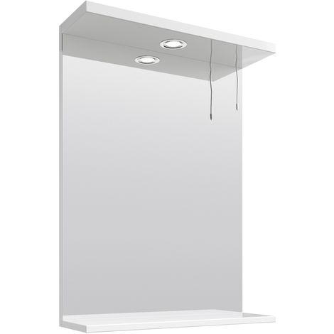 VeeBath Linx Bathroom Mirror Wall Hung Mounted Storage Unit Shelf Lights - 550mm