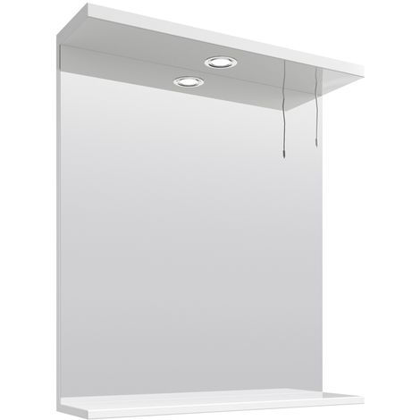 VeeBath Linx Bathroom Mirror Wall Hung Mounted Storage Unit Shelf Lights - 650mm