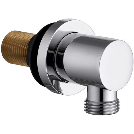VeeBath Beta Shower Outlet Elbow Wall Mounted Round Hose Connector Brass