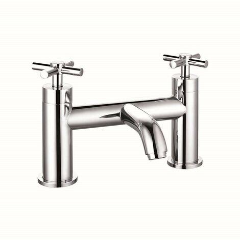 VeeBath Elmbridge Crosshead Bath Filler Mixer Tap Bathroom Tub Faucet - Chrome