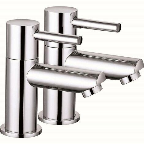 VeeBath Julia Modern Single Lever Hot & Cold Bathroom Sink Basin Taps - Chrome