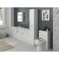 VeeBath Linx Back to Wall BTW WC Toilet Unit Gloss White Furniture - 500 x 300mm