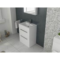 VeeBath Sphinx Vanity Basin Cabinet Unit White Storage Sink Furniture - 600mm