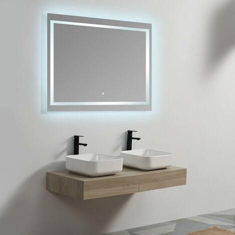 Plan sous vasque - Plaqué couleur Bois - 120x50 cm - Tendance