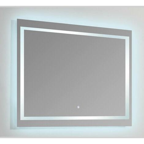 Miroir Rectangle lumineux salle de bain - Rétro-éclairage LED - 120x80 cm - Connec't 120