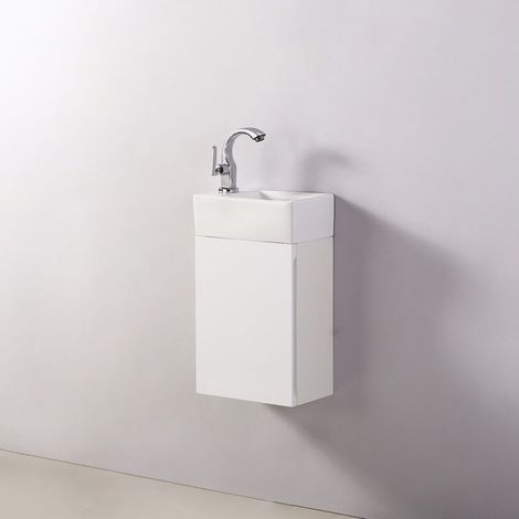 Meuble Lave main - Blanc - City - 30x18 cm - Essento