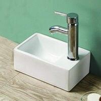 Petit lave main Gain de Place Droite - Céramique - 30x20 cm - Essento