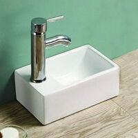 Petit lave main Gain de Place Gauche - Céramique - 30x20 cm - Essento