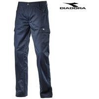 37fdad613440 Diadora pantalone da lavoro pant level grigio acciaio blu classico taglia   xxl colore