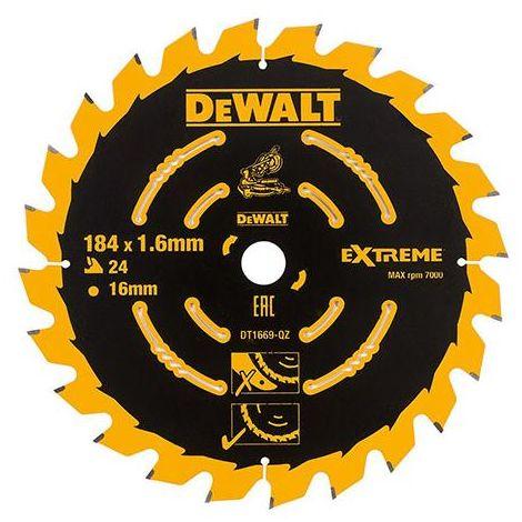 DEWALT DT1669QZ 184X16 24T TCT BLADE