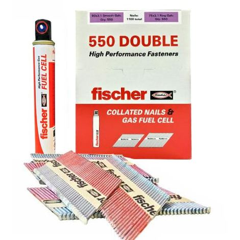 FISCHER 540483 550 DOUBLE NAIL PACK 90/63