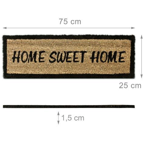 Bio Kokosmatte Indoor Fußmatte natürliche Latexbeschichtung Home sweet Home 60 c