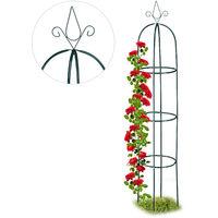 76 cm lang Pflanzst/äbe Relaxdays 12x Rankhilfe Tomaten im Set Balkon Gr/ün Beet H/öhenverstellbare Ringe Kunststoff