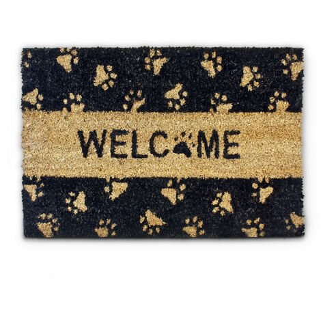 Non Slip avant et arrière entrée 60 x 40 cm Welcome Home Heavy Duty fibre de coco Paillasson