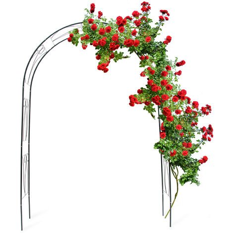 Arche à Rosiers tuteur roses arche de jardin arceau rosiers Support Plantes Grimpantes Vert 2,3 m