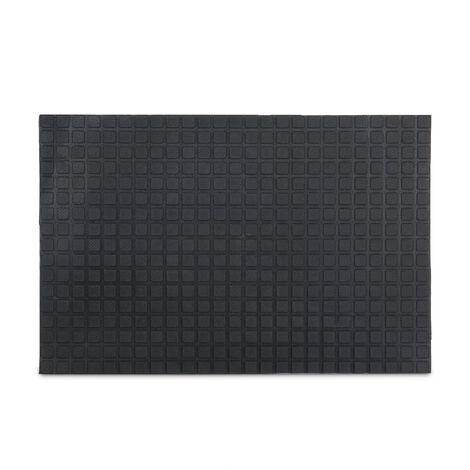 Paillasson 60 x 40 cm tapis de sol antidérapant caoutchouc tapis entrée intérieur extérieur noir