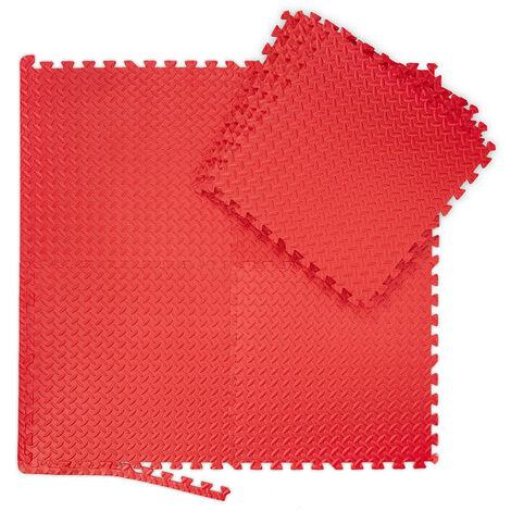 Tapis de sol 8 nattes de protection,fitness et appareils de sport et rebords, EVA superficie 3m²,lxP 60x60 cm,