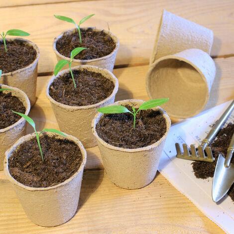 Pot Semis avec 2 Outils de Jardinage et 20 Etiquettes de Plantes pour Plantes FORMIZON Pot de Fleur Biod/égradable Lot de 20 Godet Semis Biodegradable Godet Semis R/éutilisable Godet Semis