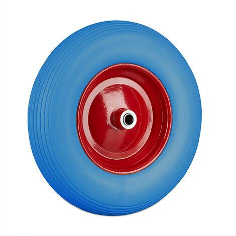 Roue de brouette 4.80 4.00-8, roue caoutchouc, roue de secours, jante, pneus diable 100 kg charge, bleu rouge