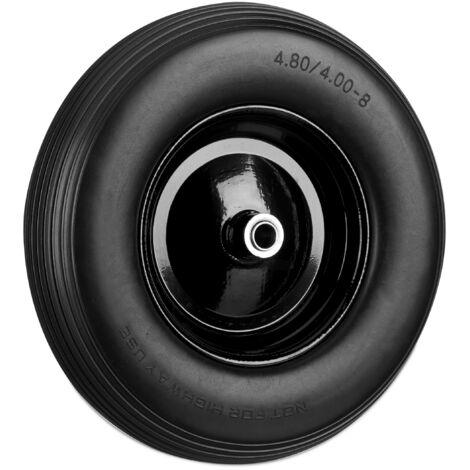 Roue de brouette 4.80 4.00-8, roue en caoutchouc, roue de secours, jante, pneus de diable 100 kg charge, noir
