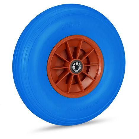 Roue de brouette caoutchouc 4.00-6, roue de rechange axe, increvable, essieu, 3 adaptateurs, 136 kg