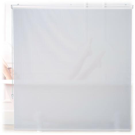 Store de baignoire, 160x240 cm, rideau de douche hydrofuge, plafond & fenêtre, pare-bain, salle de bain, blanc