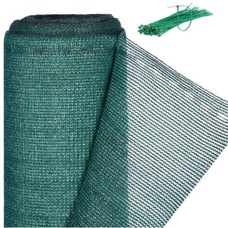 Brise-vue, Paravent pour les clôtures et rambardes, Tissu HDPE, Anti-UV, 1 x 25 mètres, vert
