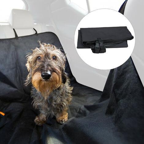 Couverture voiture chien, 4 sangles pour l'appui-tête, couverture imperméable, L x P : 136 x 142 cm, noir