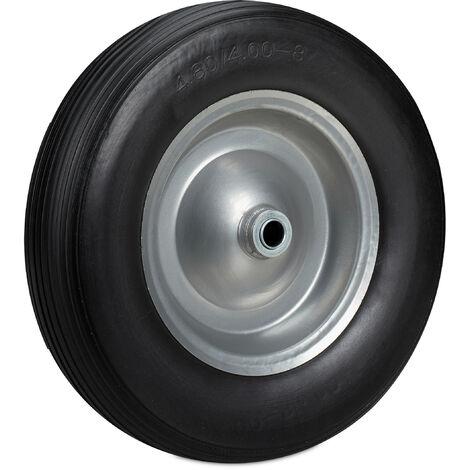Roue de brouette 4.80 4.00-8, roue en caoutchouc, roue secours, jante, pneus diable 100 kg charge, noir gris