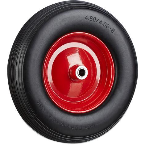 Roue de brouette 4.80 4.00-8, roue en caoutchouc, roue de secours, pneus de diable 100 kg charge, noir rouge