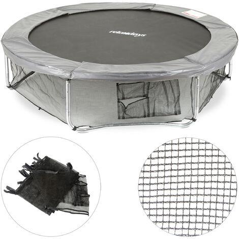 Filet de cadre trampoline filet de protection filet de sécurité pour le sol accessoire jardin Ø 427 cm, noir