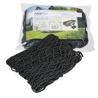 Filet de remorque Protection du chargement haute résistance extensible jusque 3 x 2 m mailles feuillage bois caoutchouc Sécurité filet arrimage, noir