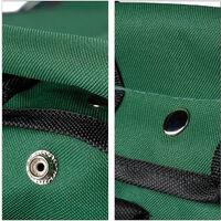 Tabouret porte-outils de jardinage 16 poches et compartiment intérieur pliable HxlxP: 42 x 30 x 39 cm, vert