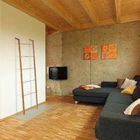 Porte-serviettes bambou, Échelle escalier sur pied, 5 barres torchons vêtements, HxlxP 180 x 35 x 20cm, nature