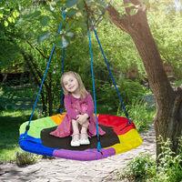 Nid d'oiseau balançoire, hexagonal, enfants & adultes, pour l'extérieur, charge 100 kg max., 95x85 cm, coloré