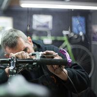 Ascenseur à vélo, jusqu'à 20 kg, plafond avec câble, garage et cave, porte bicyclette de plafond, argenté/noir
