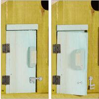 Nichoir à oiseaux en bois forme de maison avec porte et fenêtre HxlxP: 25,5 x 15,8 x 13 cm, vert clair