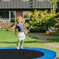 Cache-Ressorts Trampoline, Coussin Protection, Accessoire Trampoline, PVC Largeur 30 cm, Diamètre 244 cm, bleu