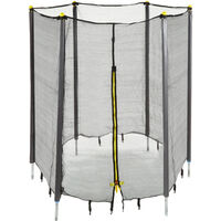 Filet de sécurité trampoline filet de protection trampoline rond barres accessoire 182 cm, noir