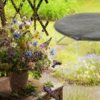 Housse de Protection pour Trampoline Ø 244 cm Bâche pluie vent jardin intempéries poussière, noir