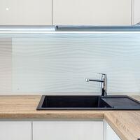 crédence de cuisine, verre, contre éclaboussures, fond de hotte 120 x 60 cm, montage mural, transparent