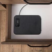 Coffre-fort auto combinaison, mobile, avec câble de sécurité, mini trésor, acier, HxlxP 4,5 x 17 x 24 cm, noir