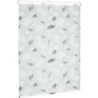 Store de baignoire, 120 x 240 cm, rideau de douche avec chaine, montage flexible, salle de bain, noir-blanc