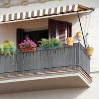 Brise-vue, paravent pour les clôtures, rambardes, anti-UV, résistant aux intempéries, 1,2 x 6 m, anthracite