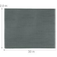 Brise-vue, paravent pour les clôtures, rambardes, anti-UV, résistant aux intempéries, 2 x 30 m, anthracite