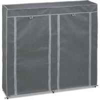 Meuble à chaussures tissu, 12 compartiments, 36 paires, housse amovible, HLP 107 x 115 x 30 cm, anthracite