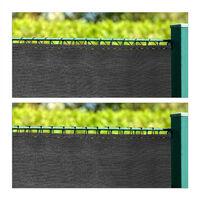 Brise-vue, 1,2x15 m, pour jardin, balcon et terrasse, résistant aux UV et intempéries, tissu HDPE, anthracite